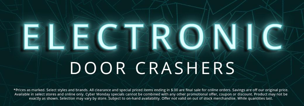 Black Friday Electronic Door Crashers