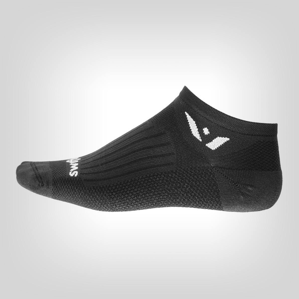 Mens Swiftwick Vibe Zero Socks Black//Red//Grey S